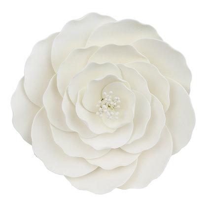O'Creme White Briar Rose Jumbo Gumpaste Flowers - Set of 3