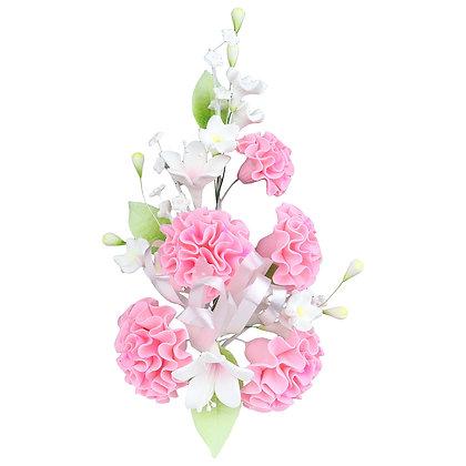 O'Creme Pink Carnation Spray Gumpaste Flower