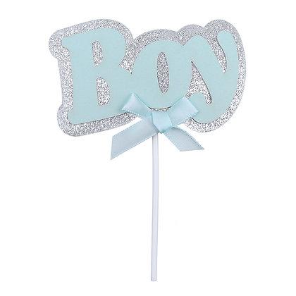 O'Creme Blue 'Boy' Cake Topper