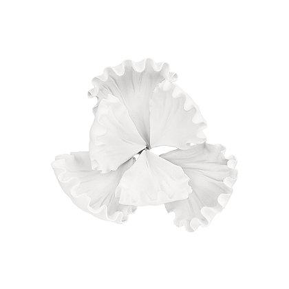 O'Creme White Dutch Iris Gumpaste Flowers - Set of 3
