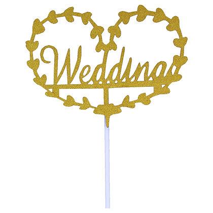 O'Creme Wedding Cake Topper