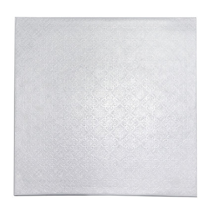 """O'Creme Square White Cake Drum Board, 9"""" x 1/4"""" Thick, Pack of 10"""