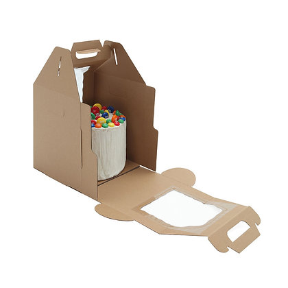 O'Creme Tall Kraft Cake Carrier Box