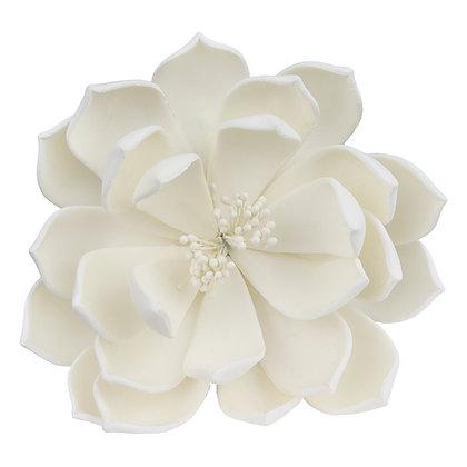O'Creme White Queen of the Night Dahlia Gumpaste Flowers - Set of 3