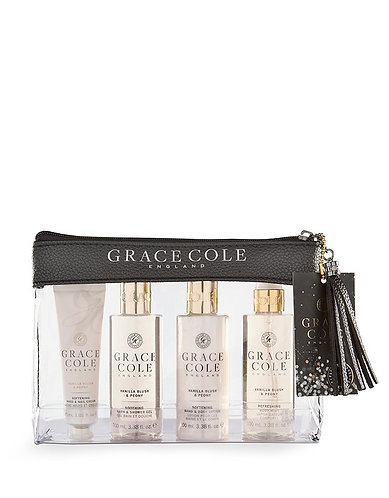 Grace Cole Travel Set: Vanilla Blush & Peony