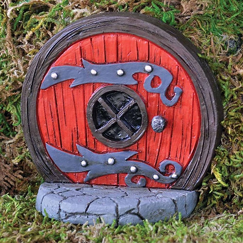 Fiddlehead Red Fairy Door