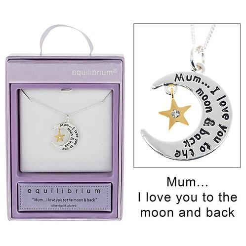 Moon & Star Mum Necklace