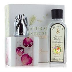 Opalescent Rose Fragrance Lamp Gift Set