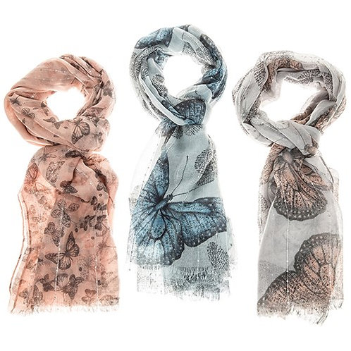 Butterfly Scarf: Coral