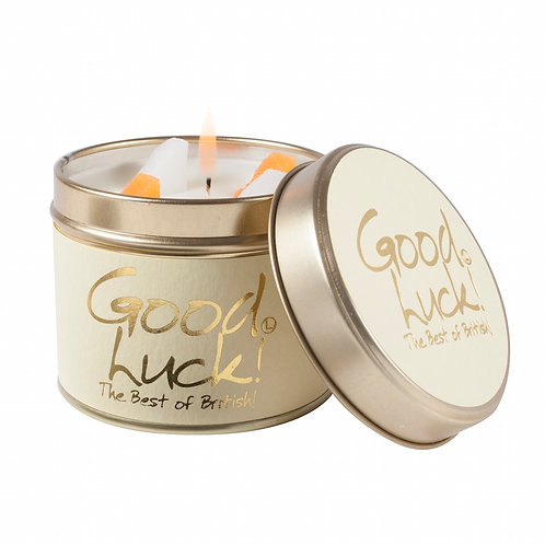 Good Luck! Tinned Candle by Lily-Flame