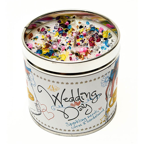 Wedding Day Tinned Candle