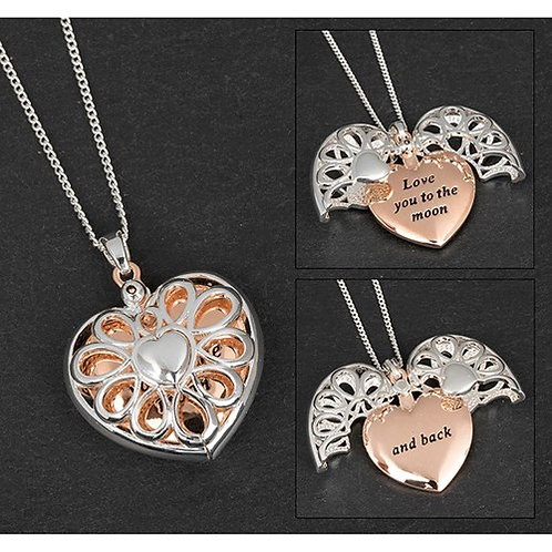 Love You To The Moon Message Locket
