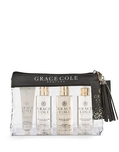 Grace Cole Travel Set: Nectarine & Grapefruit