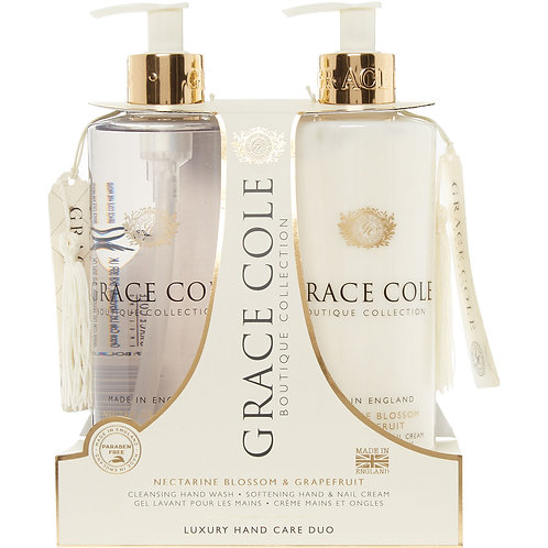 Grace Cole Hand Care Duo: Nectarine & Grapefruit