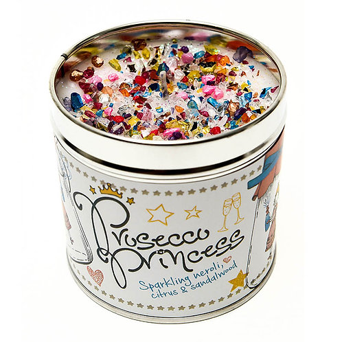 Prosecco Princess Tinned Candle