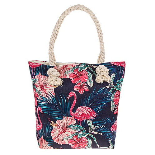 Midnight Flamingo Tote Bag