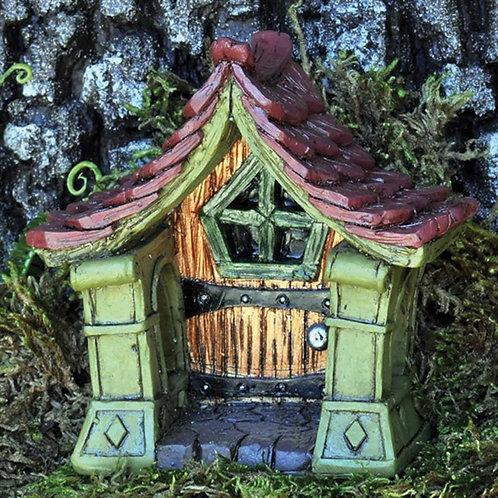 Fiddlehead Copper Fairy Door