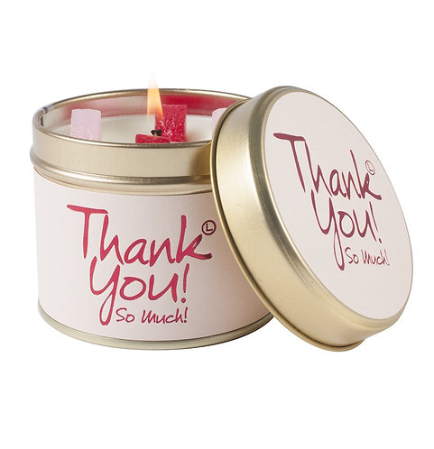 Thank You! Tinned Candle by Lily-Flame