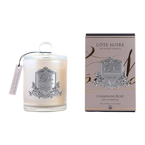 Côte Noire: Pink Champagne Scented Candle