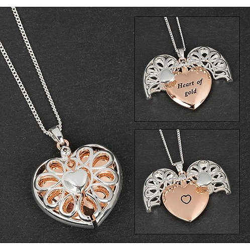 Heart Of Gold Message Locket