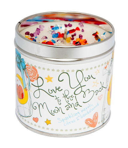 Love You To The Moon Tinned Candle