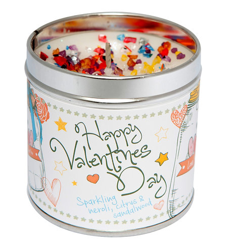 Happy Valentines Day Tinned Candle