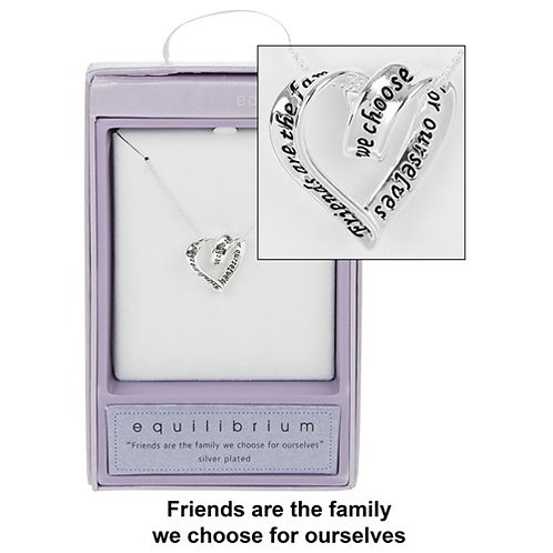 Silver Plated Coiled Heart Necklace: Friends