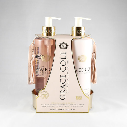 Grace Cole Hand Care Duo: Vanilla Blush & Peony