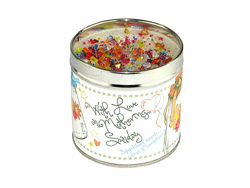 With Love On Mothering Sunday Tinned Candle
