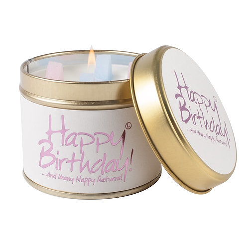 Happy Birthday! Tinned Candle by Lily-Flame