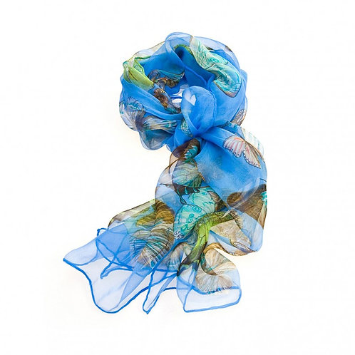 Luxurious Silk Butterfly Scarf: Royal