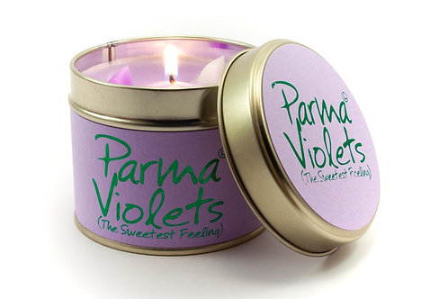 Parma Violets Tinned Candle by Lily-Flame