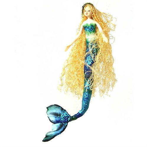 Poseable Mermaid Art Doll: Aurora