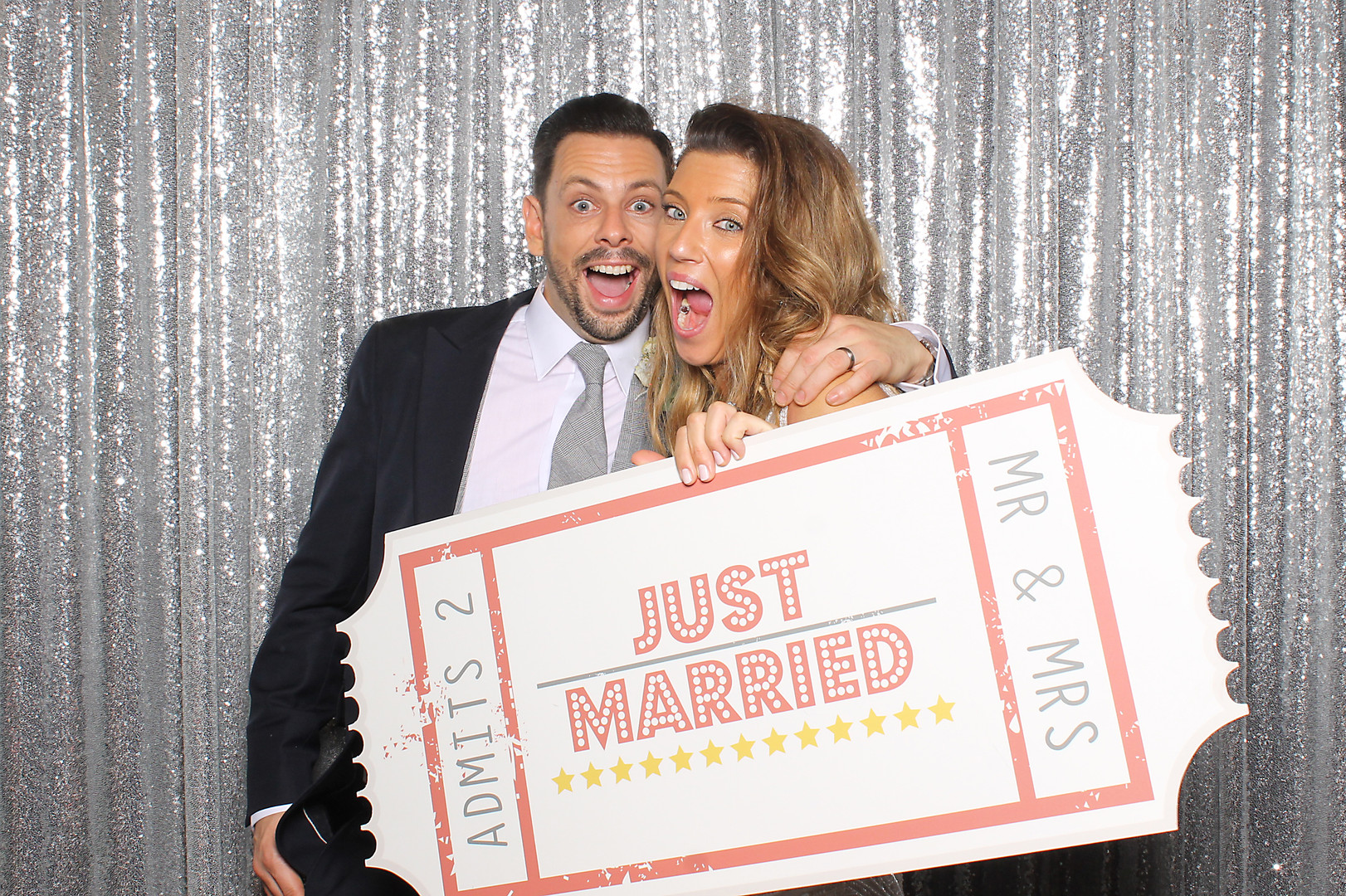 Newly weds photo booth