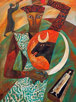 Saladin with Black Bull Shield