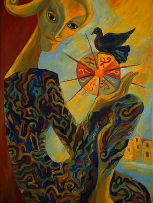 Blackbird and the Rainbow Wheel