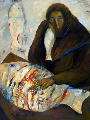 Abraham Reading Fish
