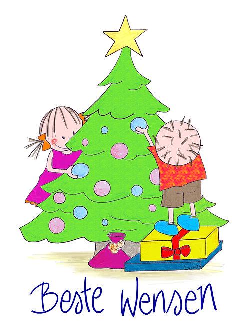 Beste wensen (Rube en Rutje versieren kerstboom)