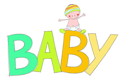 Baby (baby op grote letters)