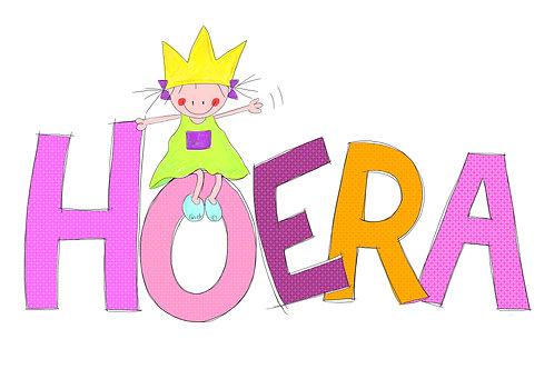Hoera (Rutje met kroon op grote letters)