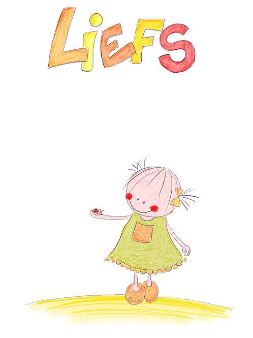 Liefs (Rutje met lieveheersbeestje op haar hand)