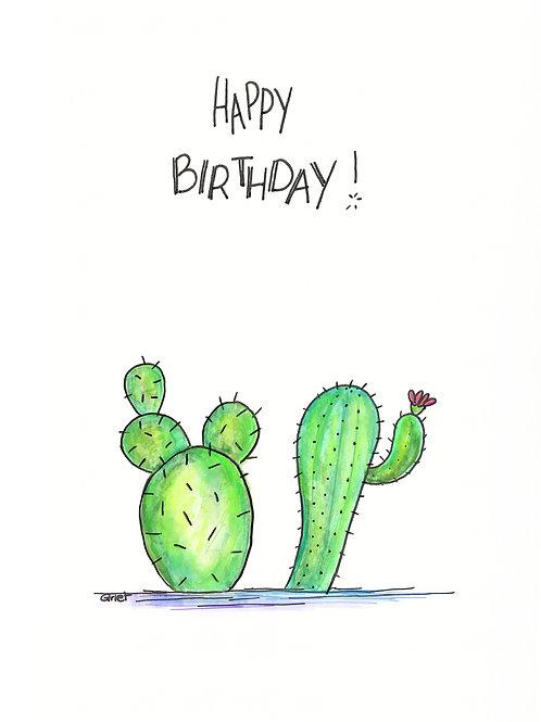 Happy birthday, cactussen