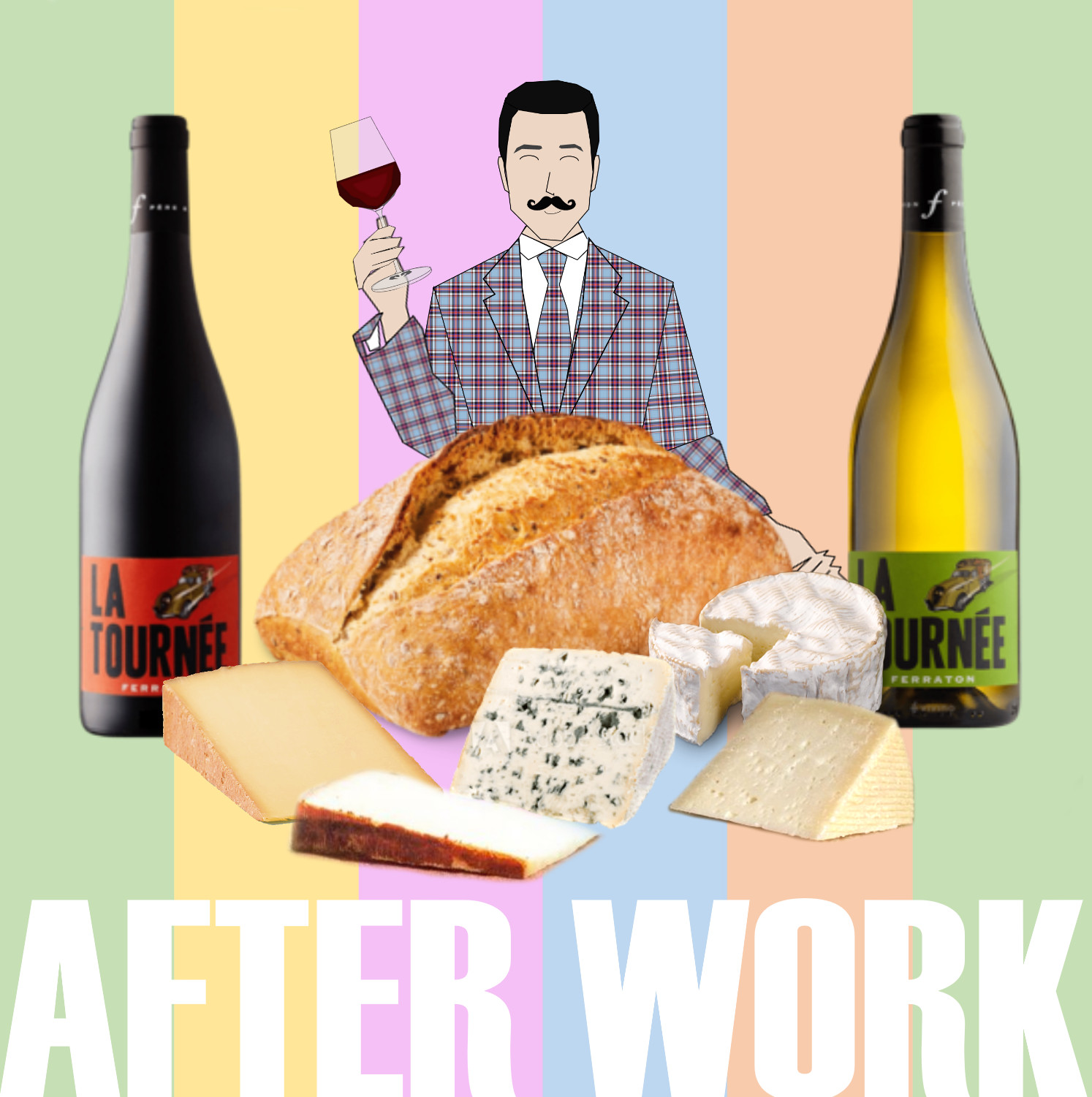 Wine and cheese class afterwork