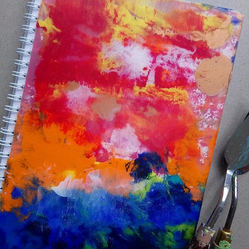 HK DESIGN - Original artwork A5 Notebook (Journal) 原創塑膠彩畫封面A5筆記本 (日誌) 2
