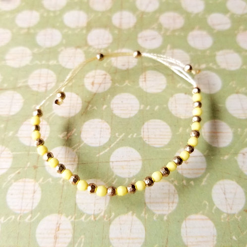 BRACELET Yellow Dots 黃色小珠手繩