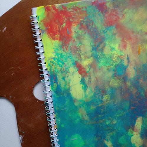 HK DESIGN - Original artwork B5 Notebook (Journal) 原創塑膠彩畫封面B5筆記本 (日誌) 11