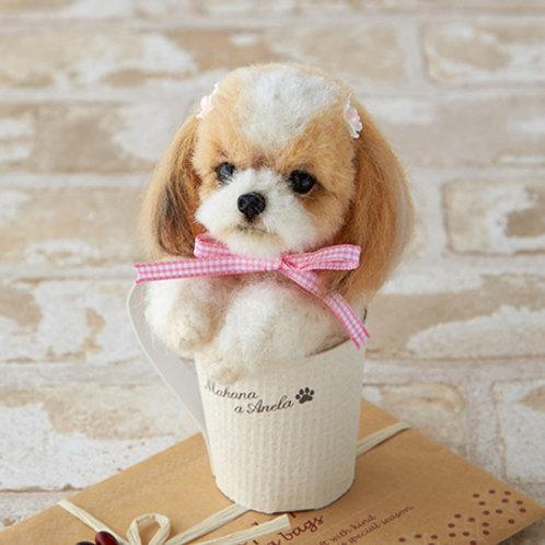 DIY- 日本空運仿真寵物 西施杯 (套裝包)13cm高 DIY Made in Japan Canis lupus familiaris (Package)