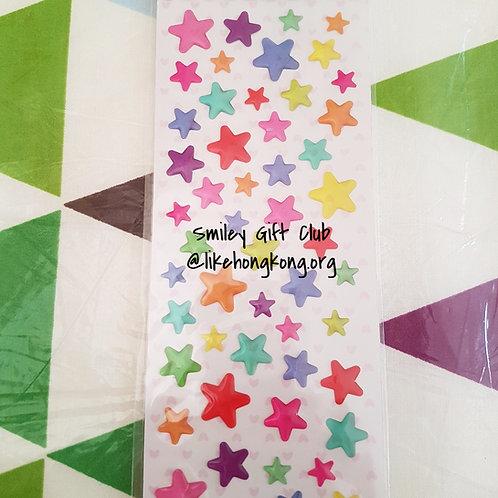STICKERS - Crystal Stars 水晶貼紙 - 透明閃亮星星