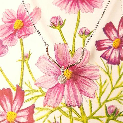 NECKLACE 鋯石項鏈  花卉浪漫邂逅