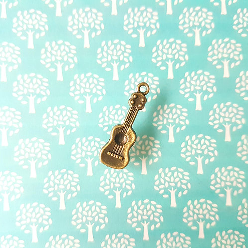 DIY Handicrafts -Antique Music Series Guitar DIY Pendant 古董結他